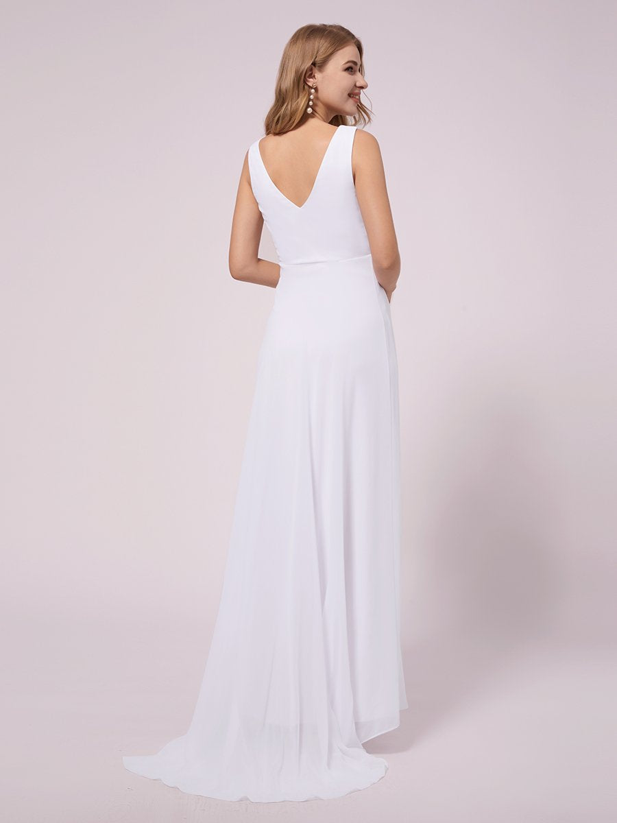 Jaylynn High Low maternity wedding gown in white