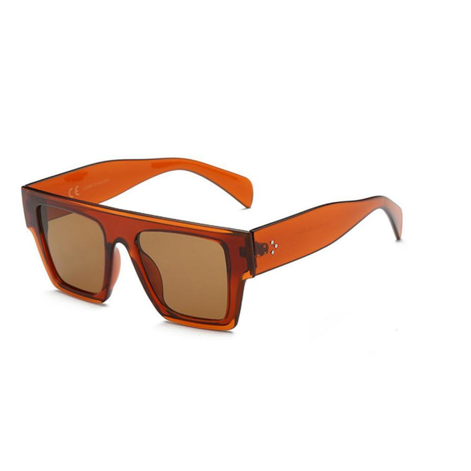 Photo of the Willow sunglasses in orange by Shady Lady Eyewear.