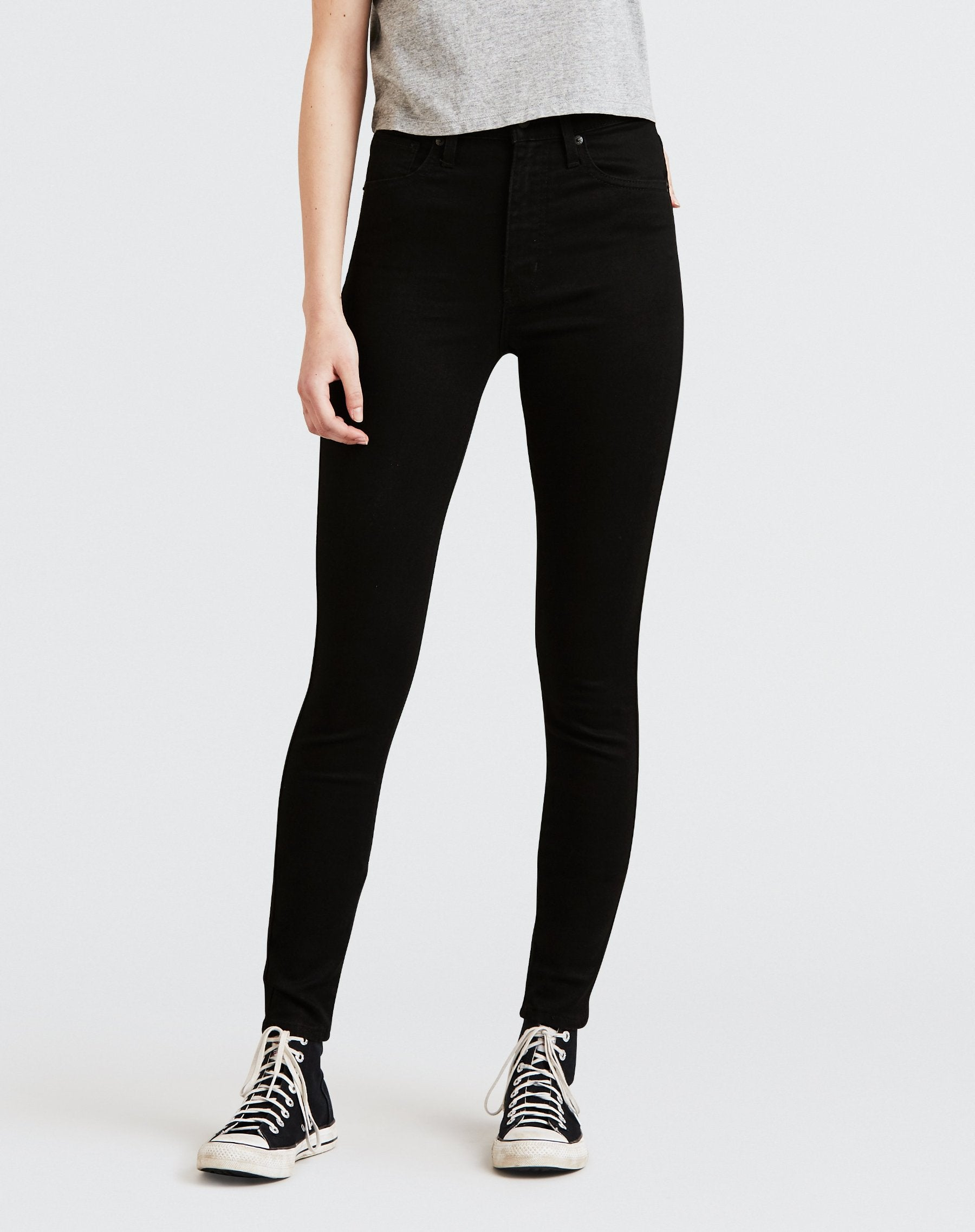"The ""BLACK GALAXY"" Mile High Super Skinny Jeans 
