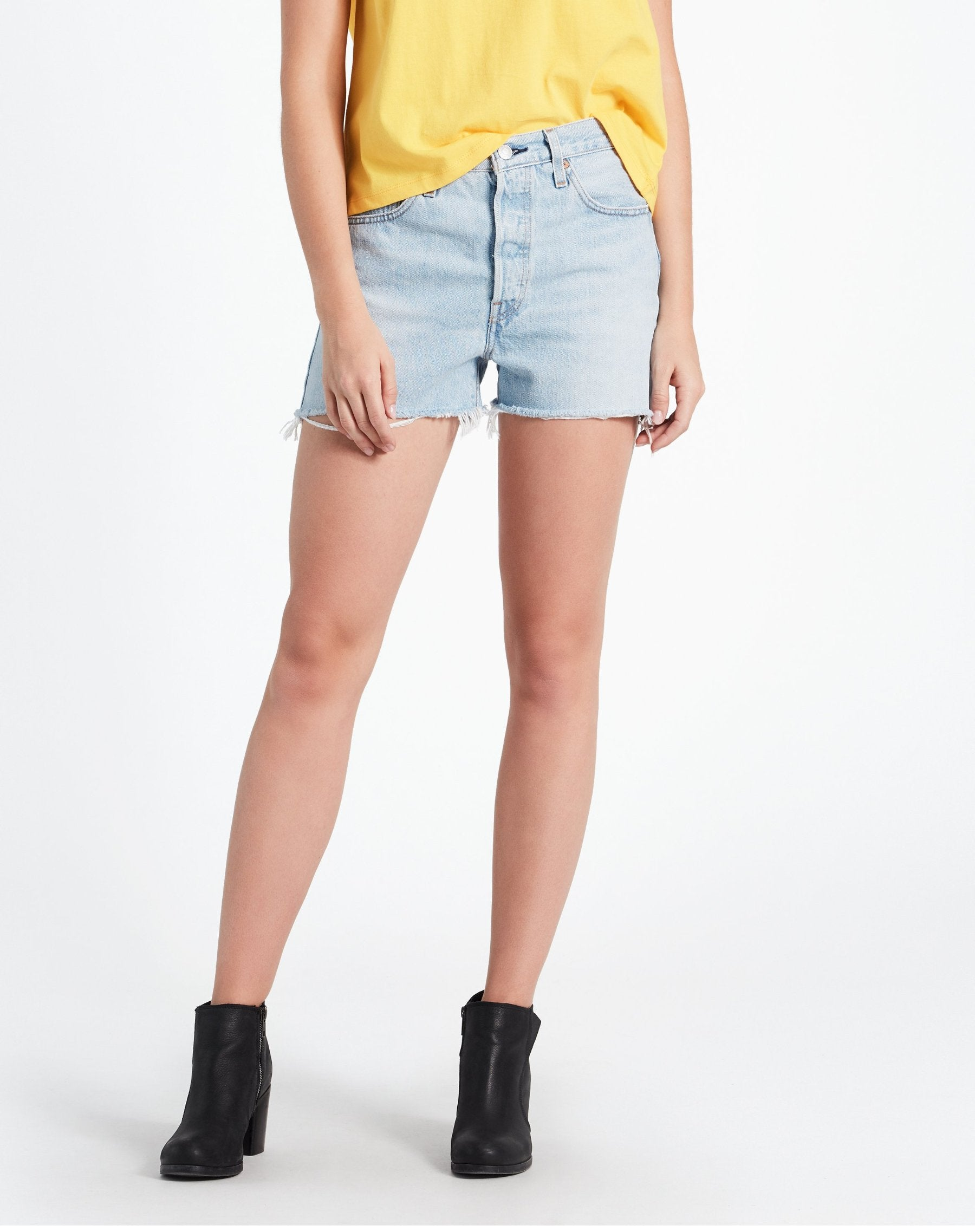 Photo of the the Weak in the Knees light denim shorts by Levi.