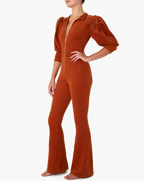 "The ""70S CORDUROY"" Jumpsuit in Autumnal 