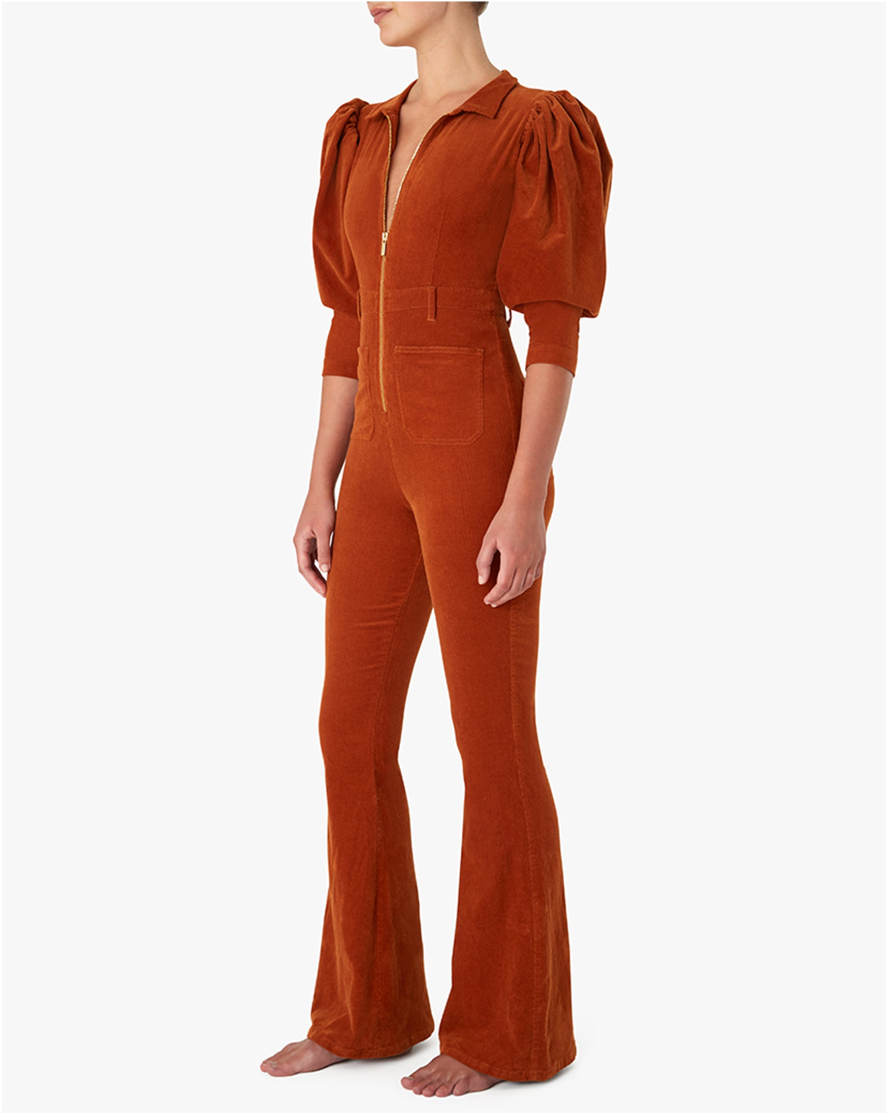The 70S CORDUROY Jumpsuit in Autumnal | We Wore What