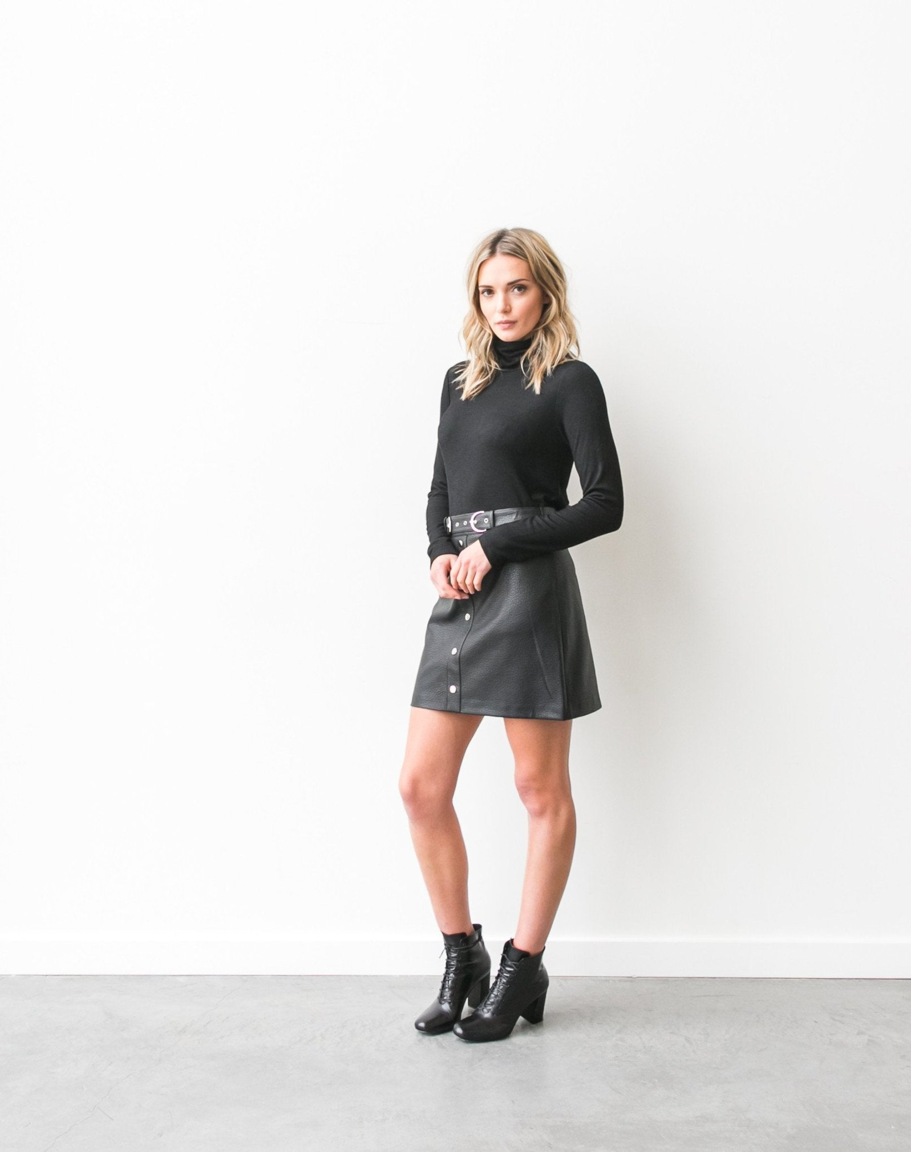 "The ""Gigi"" vegan leather skirt"