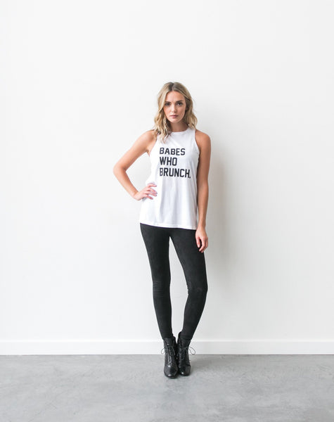 "The ""Babes Who Brunch"" Crew Neck Tank"