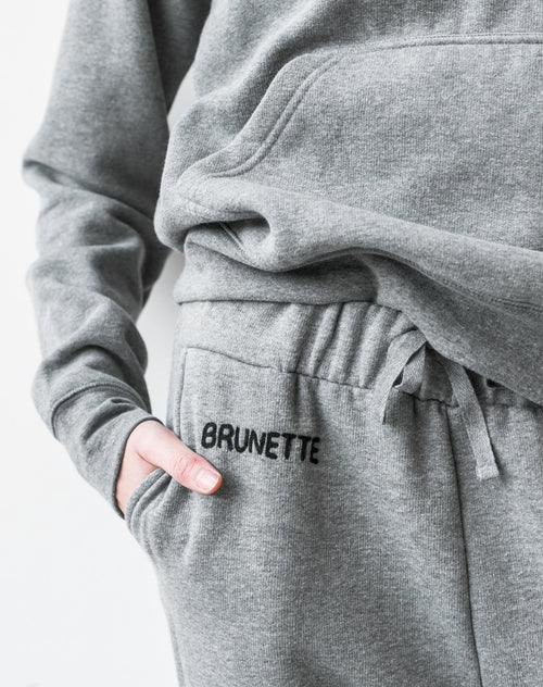 "The ""BRUNETTE"" Middle Sister Chain Stitch Jogger 