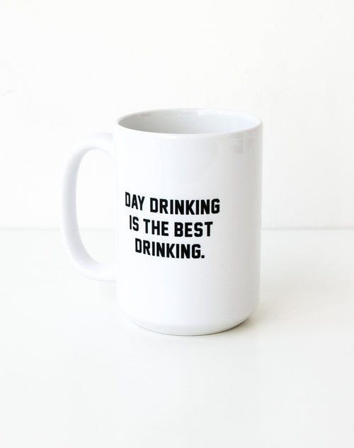 Photo of the Day Drinking is the Best Drinking mug in black by Brunette the Label.