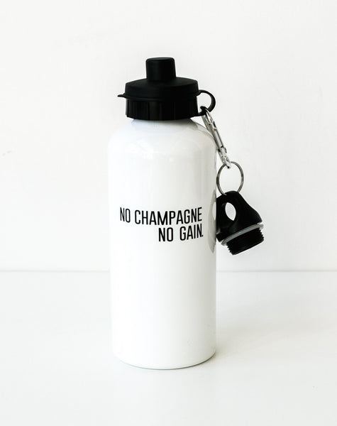 "The ""No Champagne, No Gain"" Water Bottle"