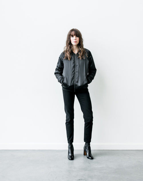 "The ""Courtney"" Bomber in Black"