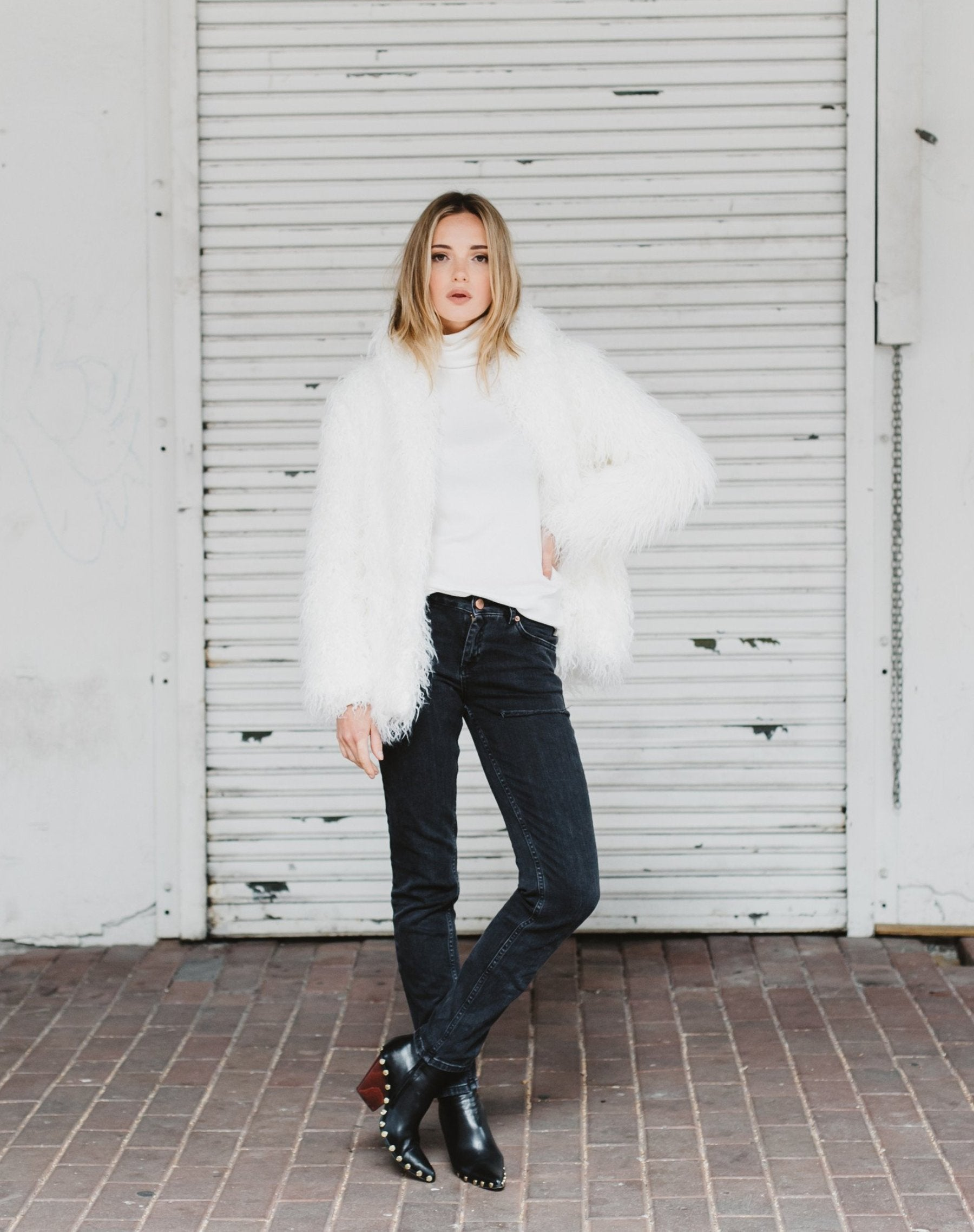 "The ""Beau"" faux fur coat"