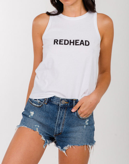 """REDHEAD"" Cropped Tank"