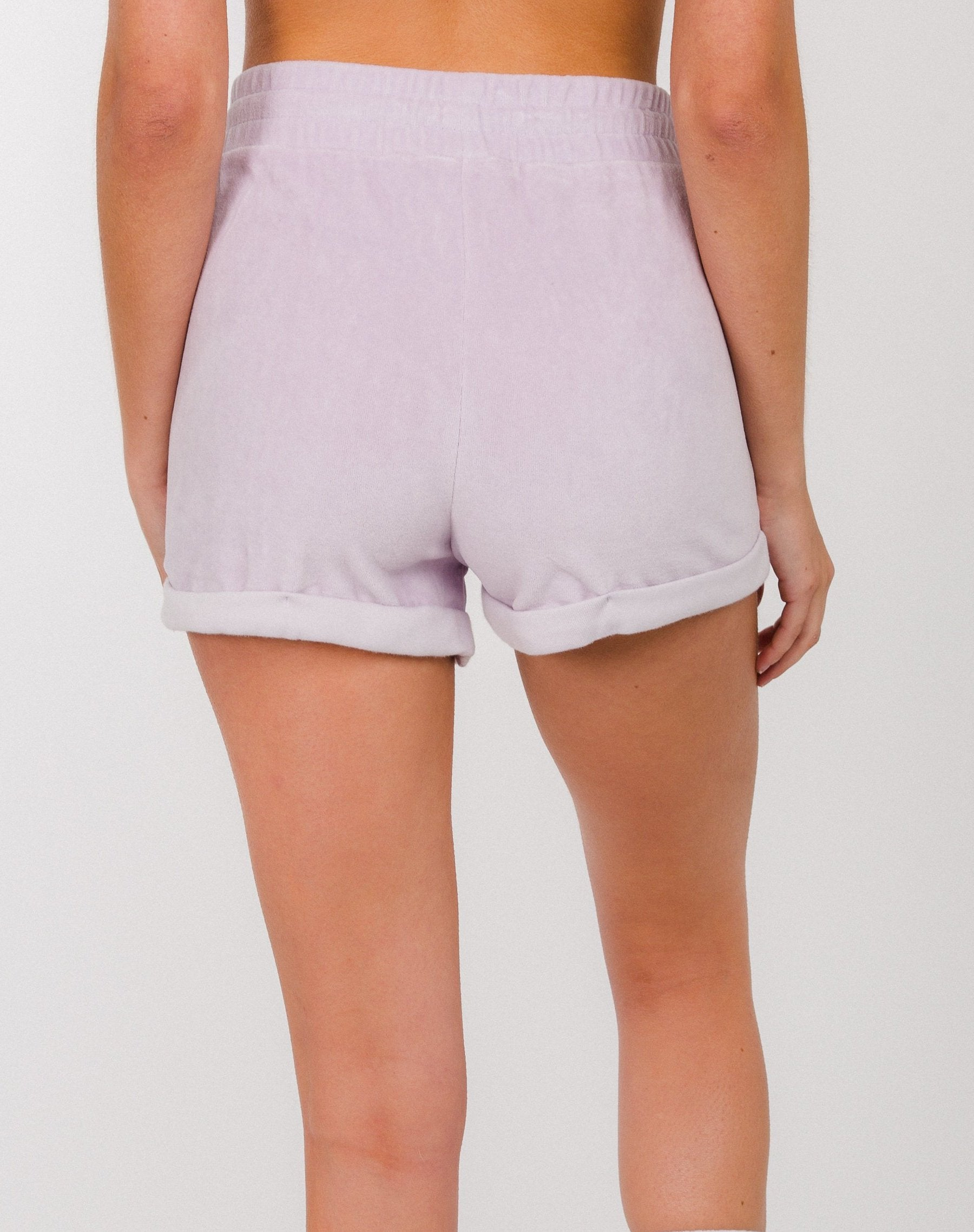 """BLONDE"" VELOUR SHORTS 