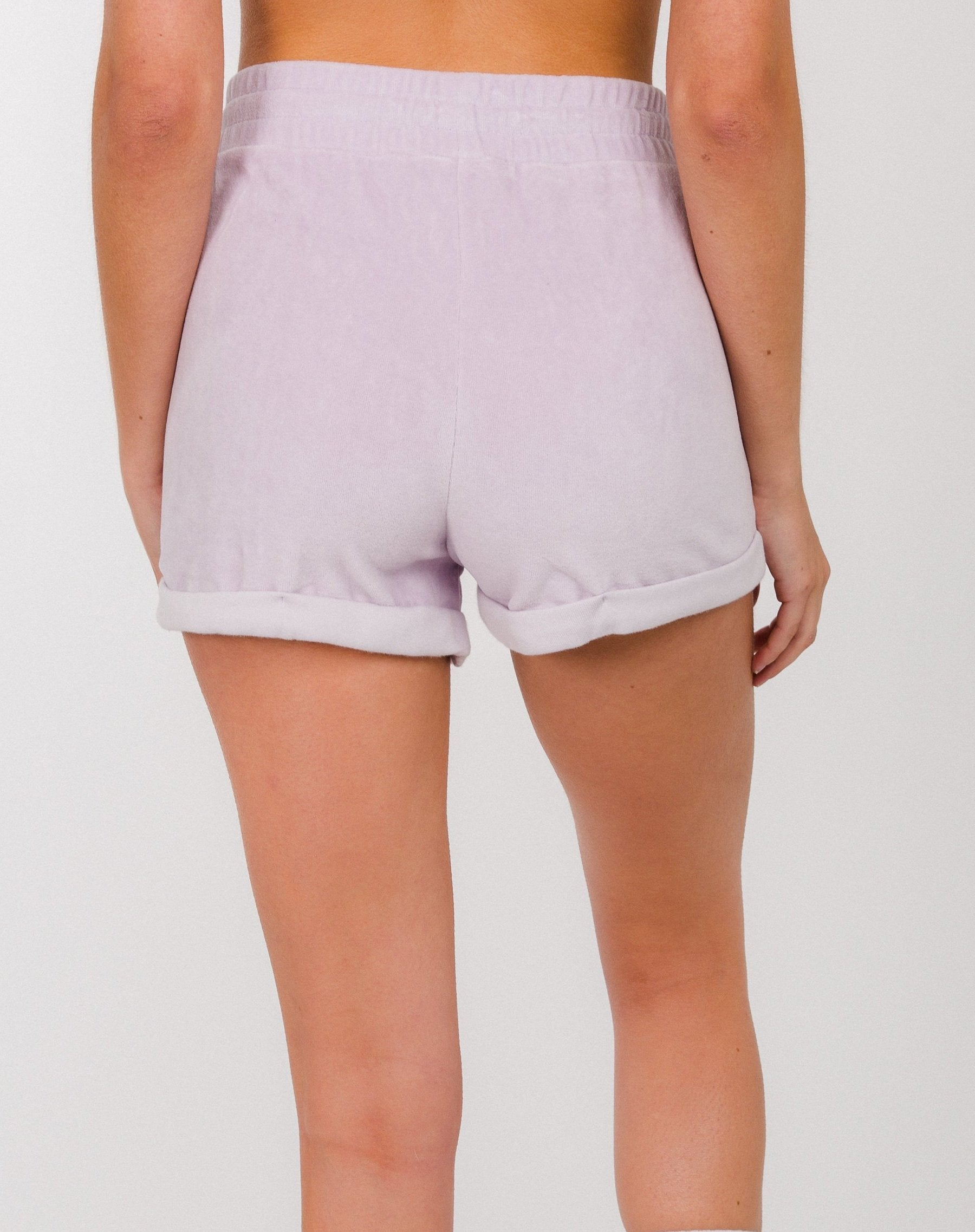 """BRUNETTE"" VELOUR SHORTS 