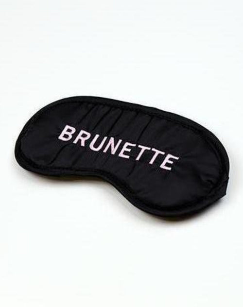 "The ""Brunette"" Sleep Mask"