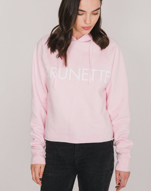 "The ""BRUNETTE"" Raw Edge Hoodie 