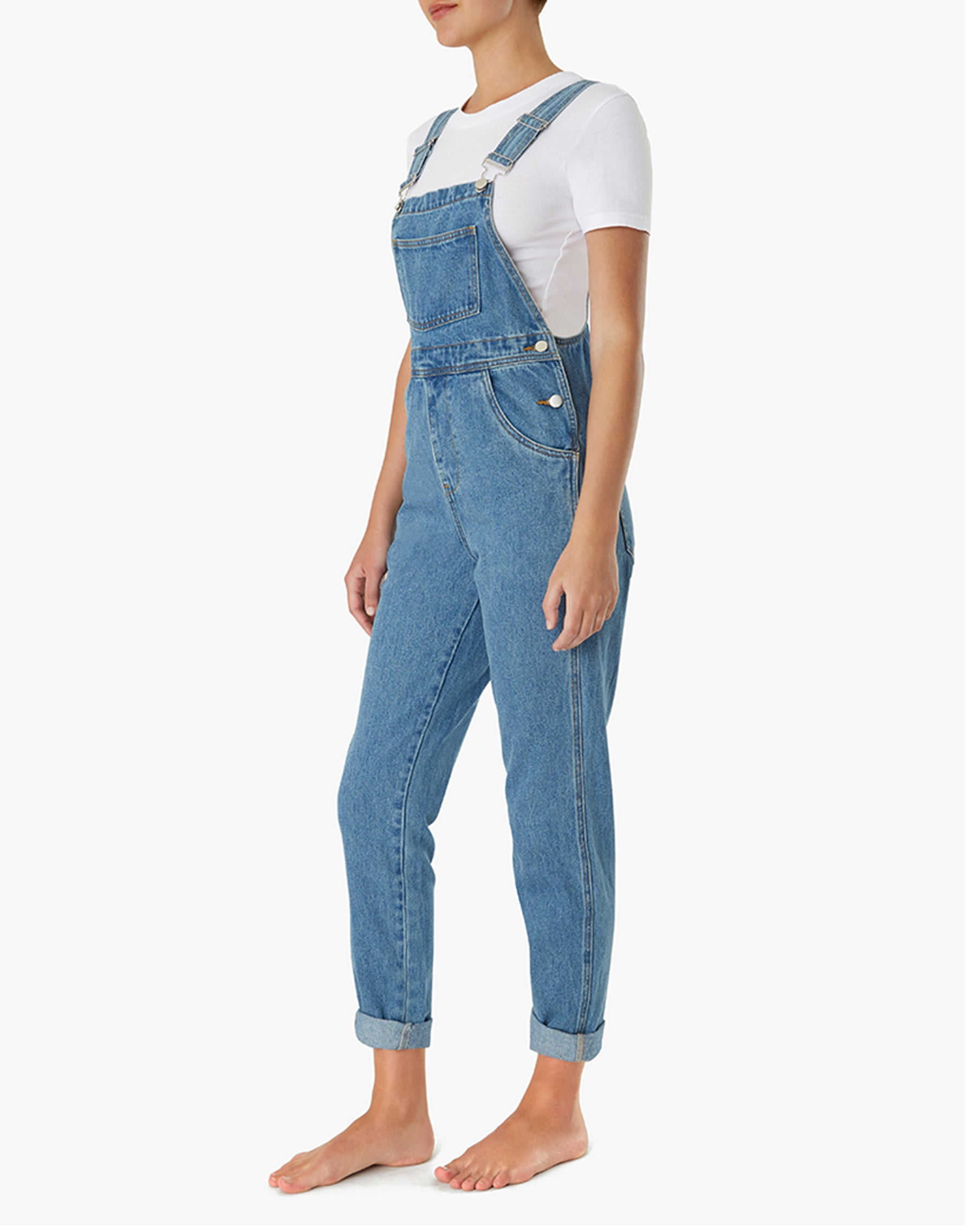 The BASIC DENIM Overalls in Light Wash | We Wore What