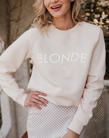 "The ""BLONDE"" Crew Neck Tank 