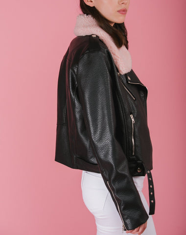 Florence Vegan Leather Moto Jacket