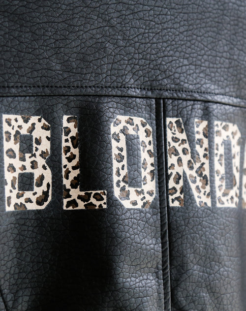 "The ""FLORENCE"" Hand Painted Vegan Leather Moto Jacket 