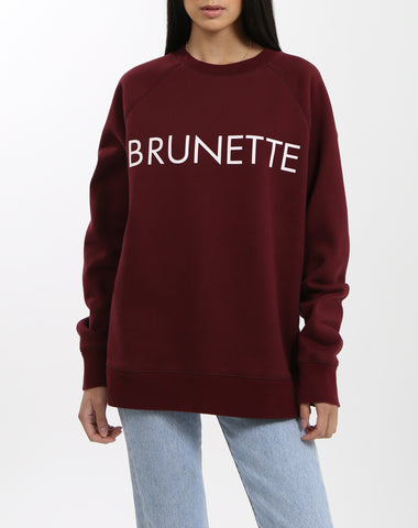"The ""BRUNETTE IS THE NEW BLACK"" Step Sister Crew Neck Sweatshirt 