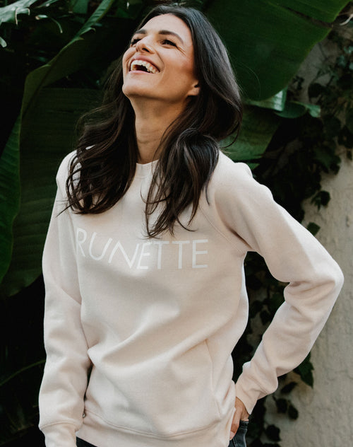 "The ""BRUNETTE"" Crew Neck Sweatshirt 