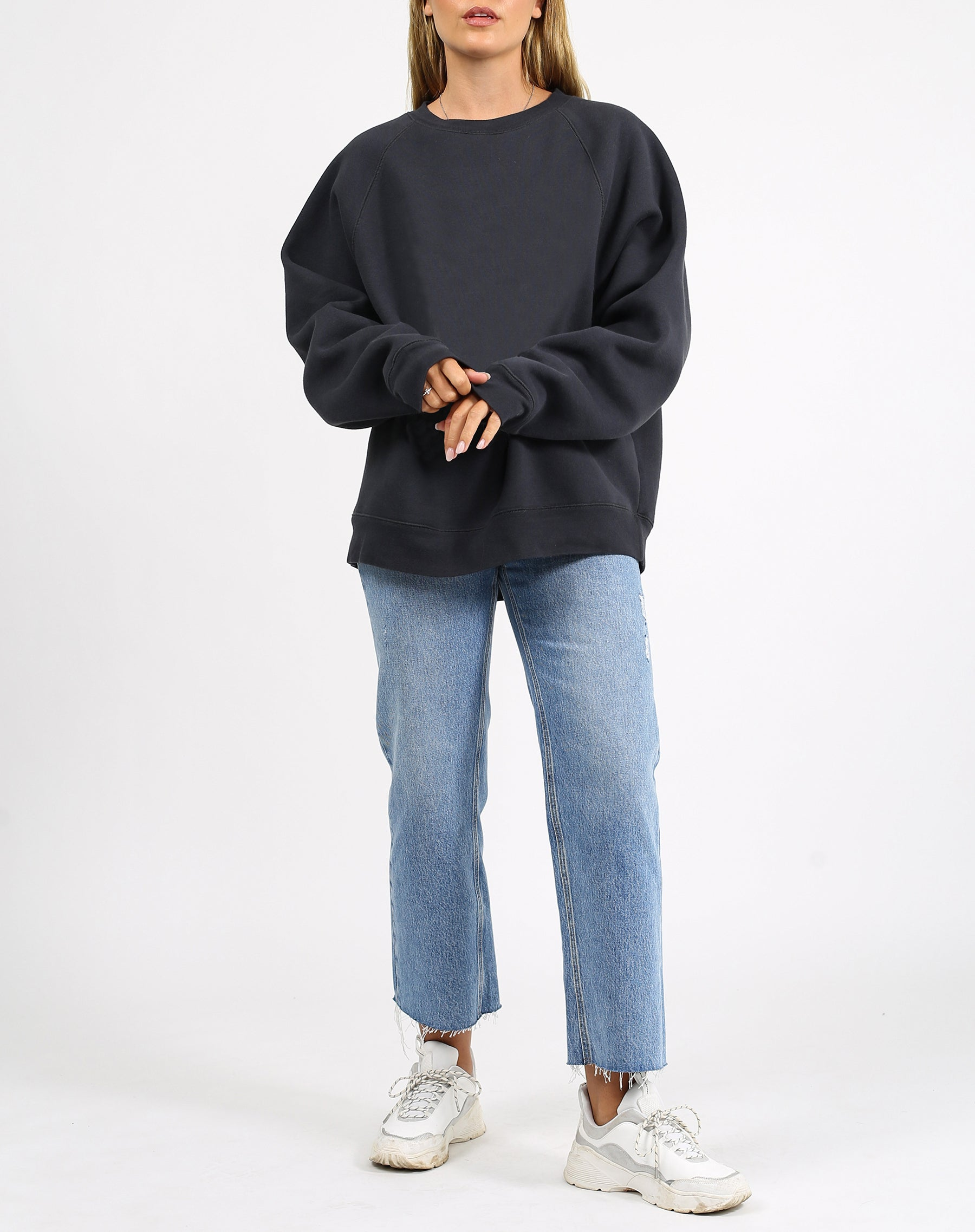 "The ""BASICS"" Not Your Boyfriend's Crew Neck Sweatshirt 