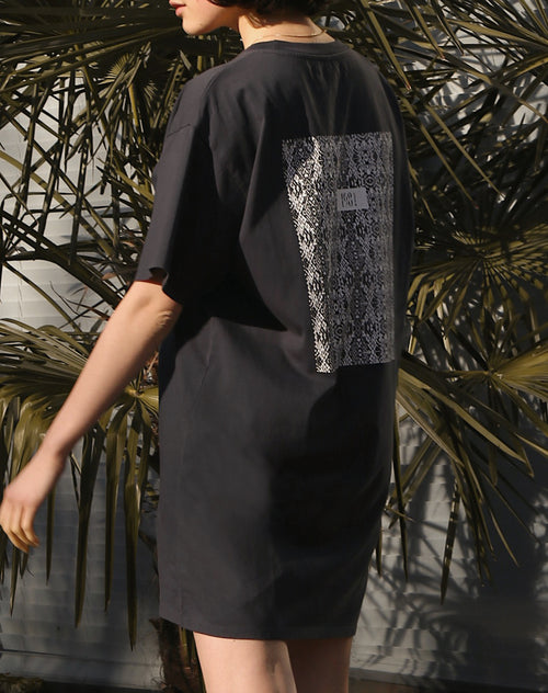 "The ""SNAKE BOX"" Boxy Tee Dress 
