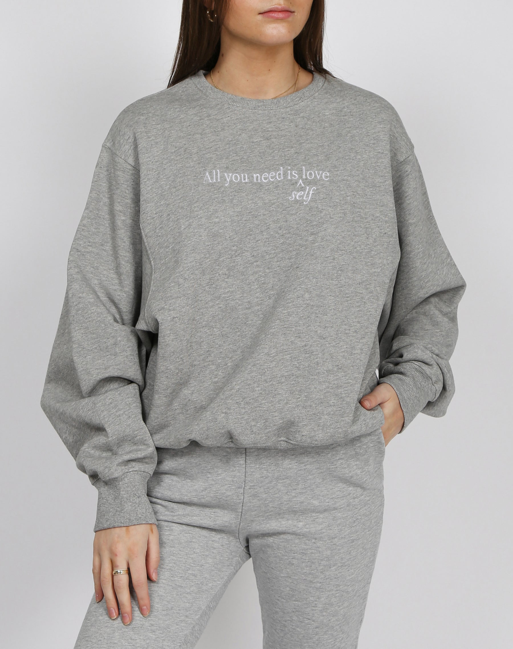 "The ""ALL YOU NEED"" Best Friend Crew Neck Sweatshirt 