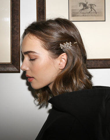 "The ""SILVER"" Gothic Hair Clip 