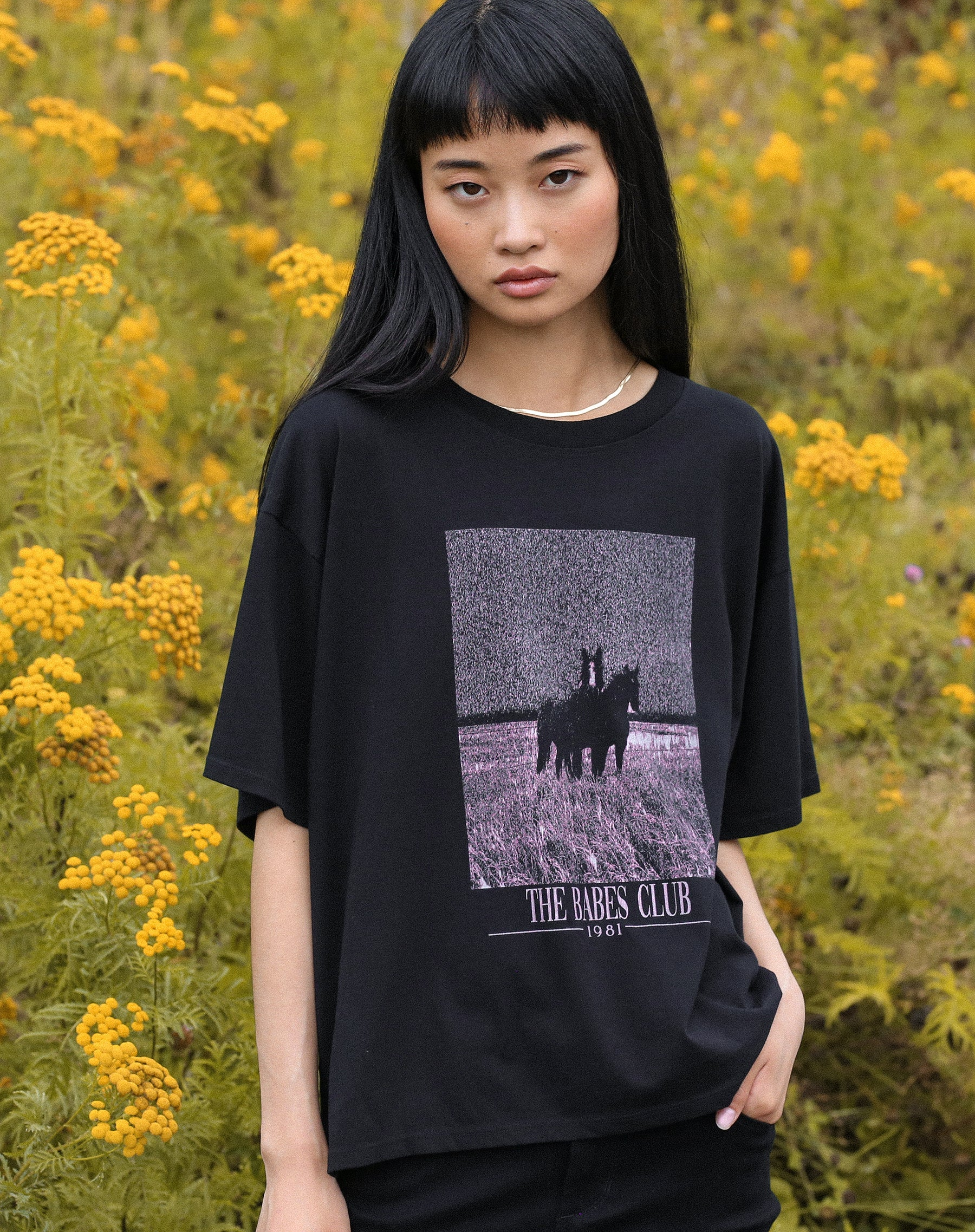 "The ""EQUESTRIAN"" Boxy Crew Neck Tee 