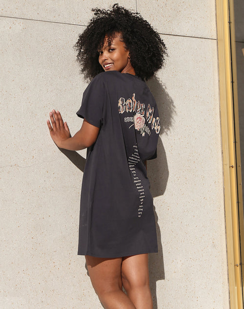 "The ""BABES CLUB"" Boxy Tee Dress 