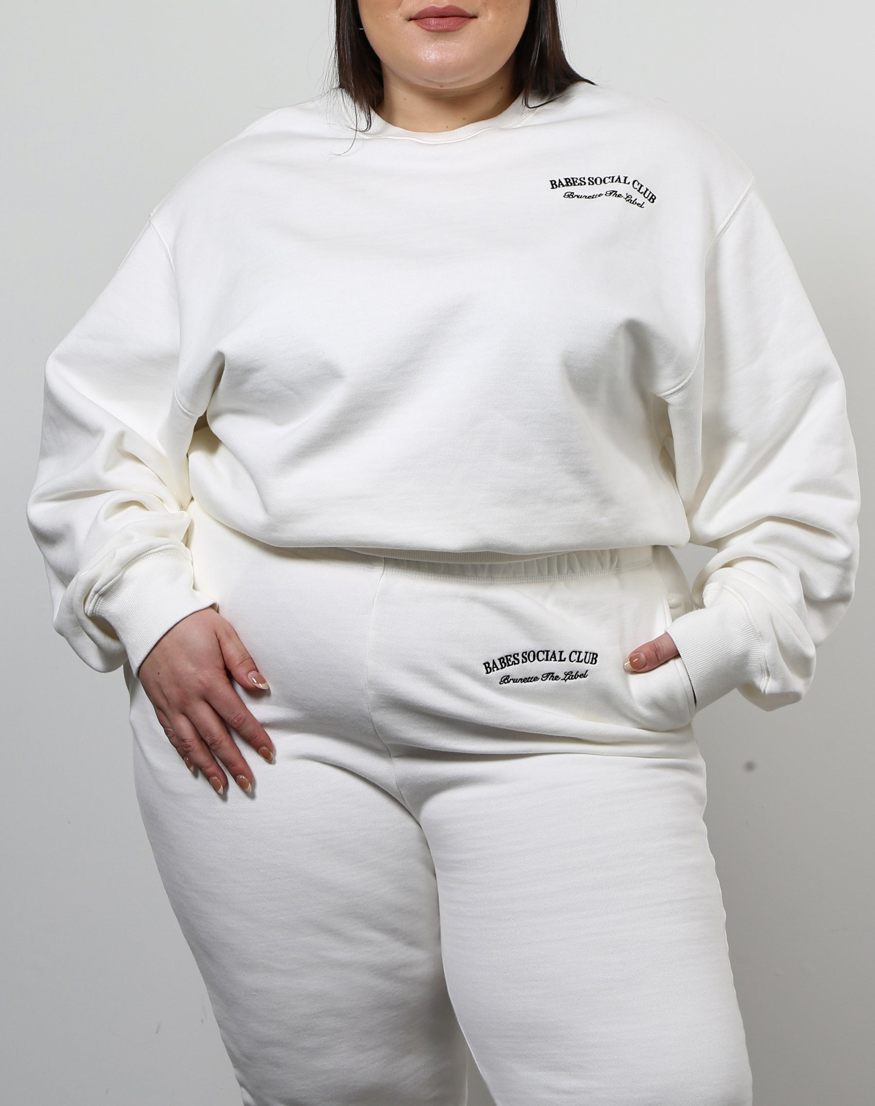 "The ""BABES SOCIAL CLUB"" Best Friend Crew Neck Sweatshirt 