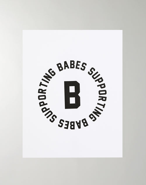 "The ""BABES SUPPORTING BABES VARSITY"" Poster  