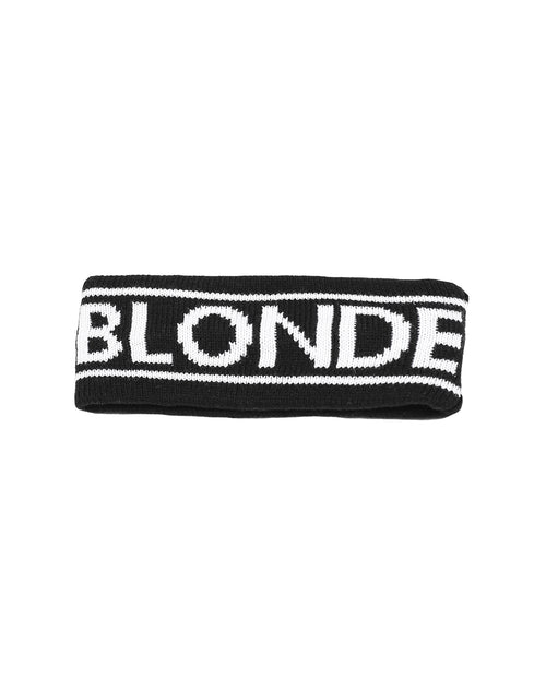 This is a photo of the Blonde Head band in Black by Brunette the Label.