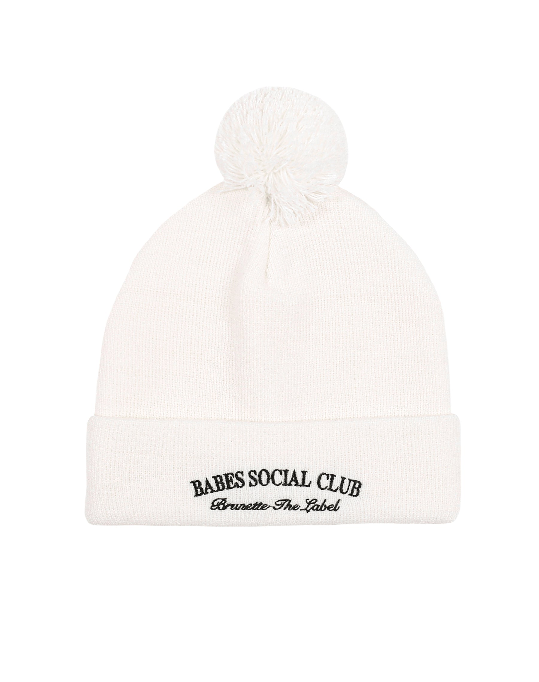 This is a photo of the Babes Social Club Toque in Cream by Brunette the Label.