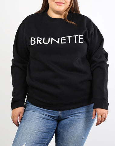 "The ""JET BLACK"" Cursive Classic Crew Neck Sweatshirt 
