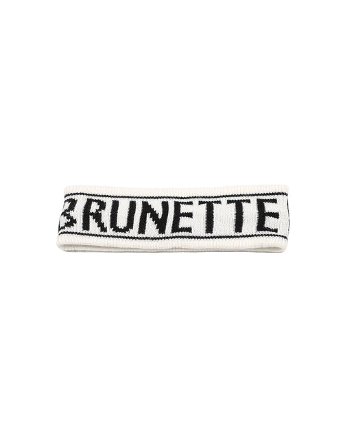 This is a photo of the Brunette Head band in Cream by Brunette the Label.