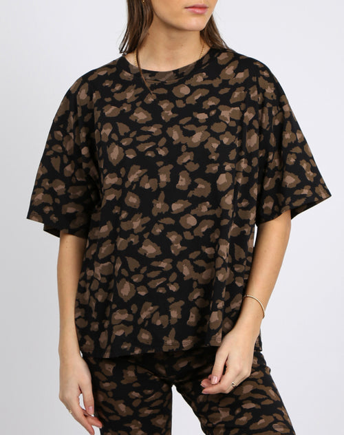 "The ""LEOPARD"" Boxy Crew Neck Tee 