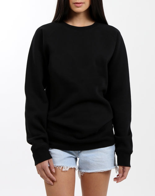 "The ""BLACK"" Classic Crew Neck Sweatshirt 