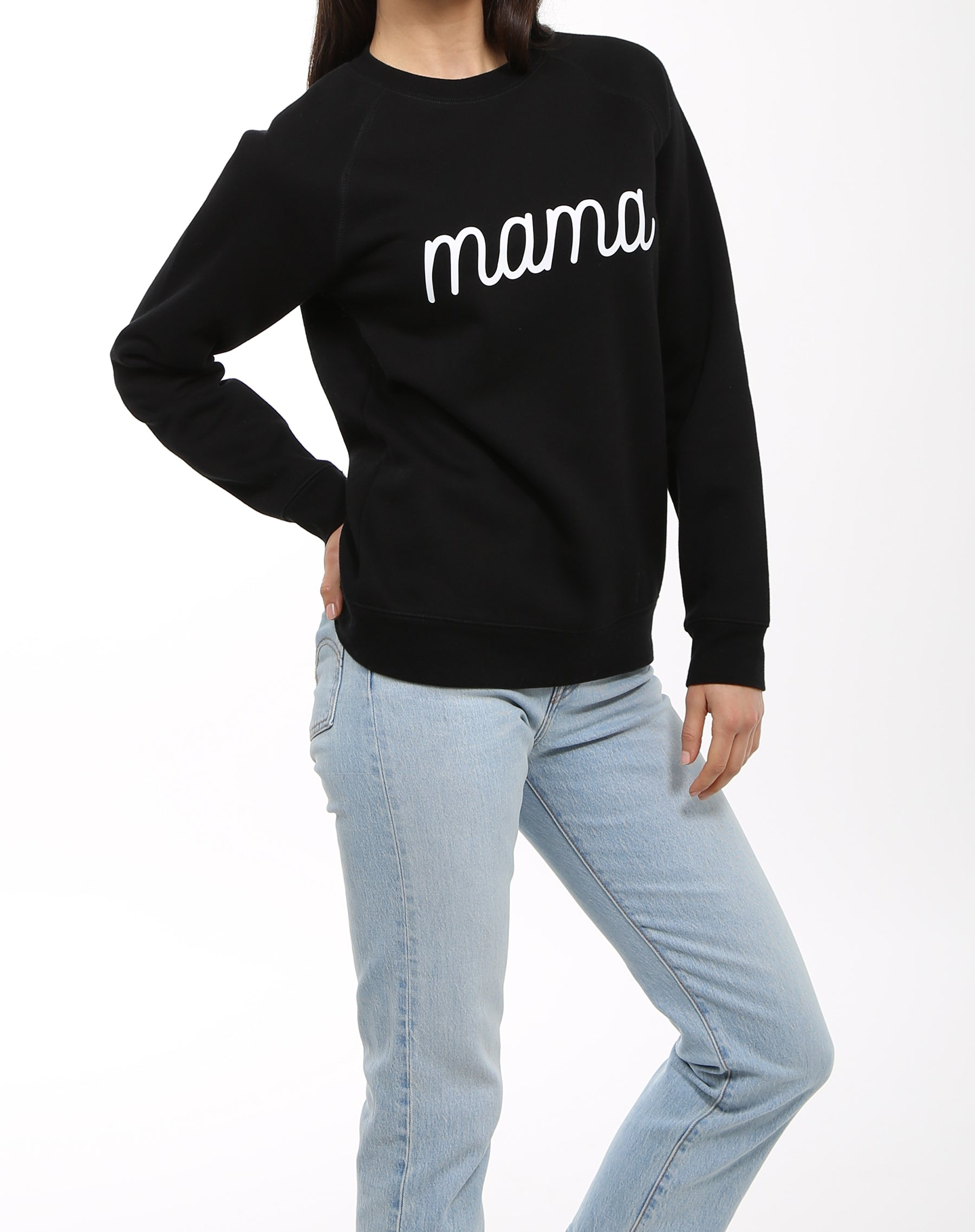 "The ""MAMA"" Cursive Classic Crew Neck Sweatshirt 