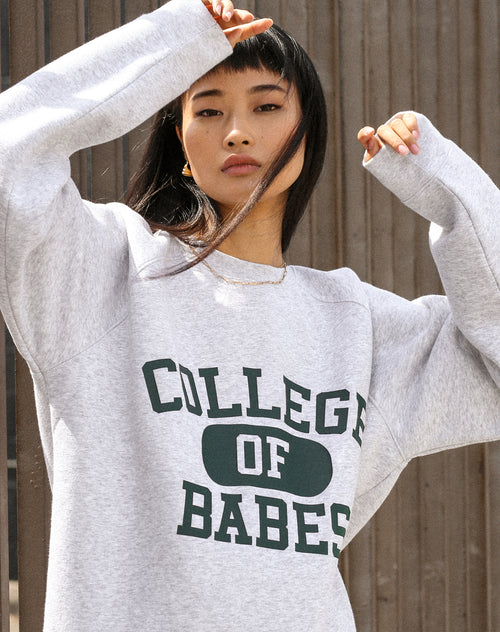 "The ""COLLEGE OF BABES"" Big Sister Crew Neck Sweatshirt 