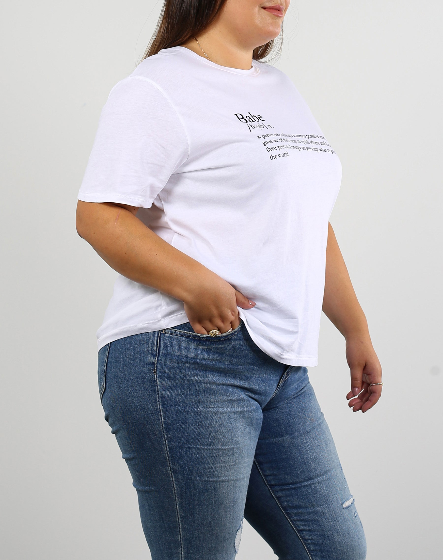 "The ""DEFINITION OF A BABE"" Classic Crew Neck Tee  