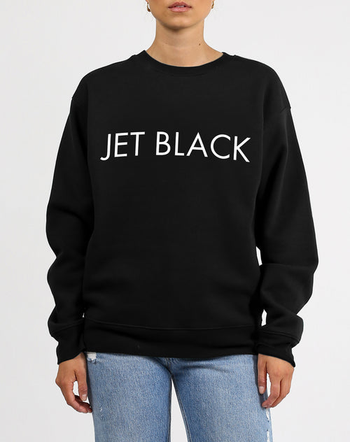 "The ""JET BLACK"" Classic Crew Neck Sweatshirt 