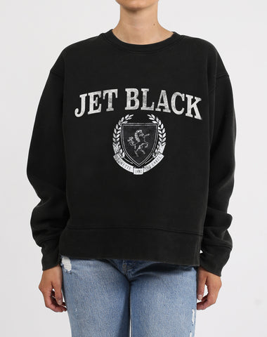 "The ""JET BLACK VARSITY"" Classic Crew Neck Sweatshirt 