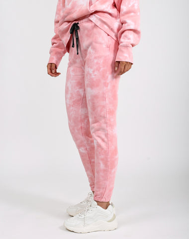 "The ""BABES SUPPORTING BABES"" Pink Marble Tie-Dye Step Sister Hoodie 