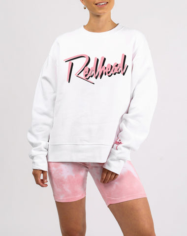 "The ""REDHEAD"" Cursive Classic Crew Neck Sweatshirt 