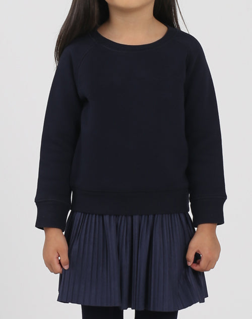 "The ""NAVY"" Little Babes Crew Neck Sweatshirt 