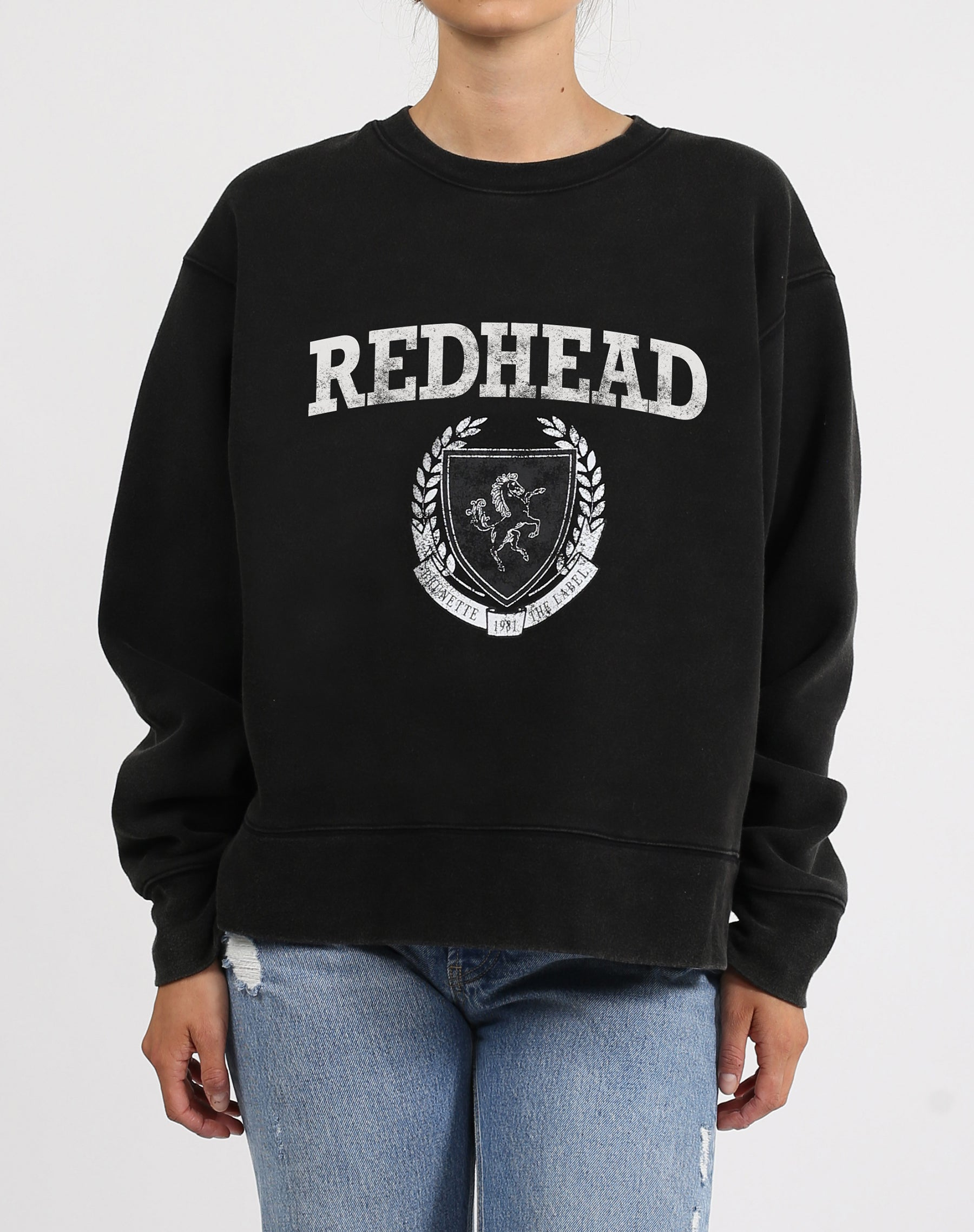 "The ""REDHEAD CREST"" Step Sister Crew Neck Sweatshirt 