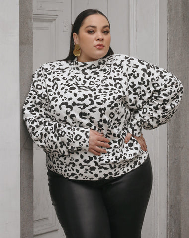 "The ""SNOW LEOPARD"" Best Friend Crew Neck Sweatshirt 