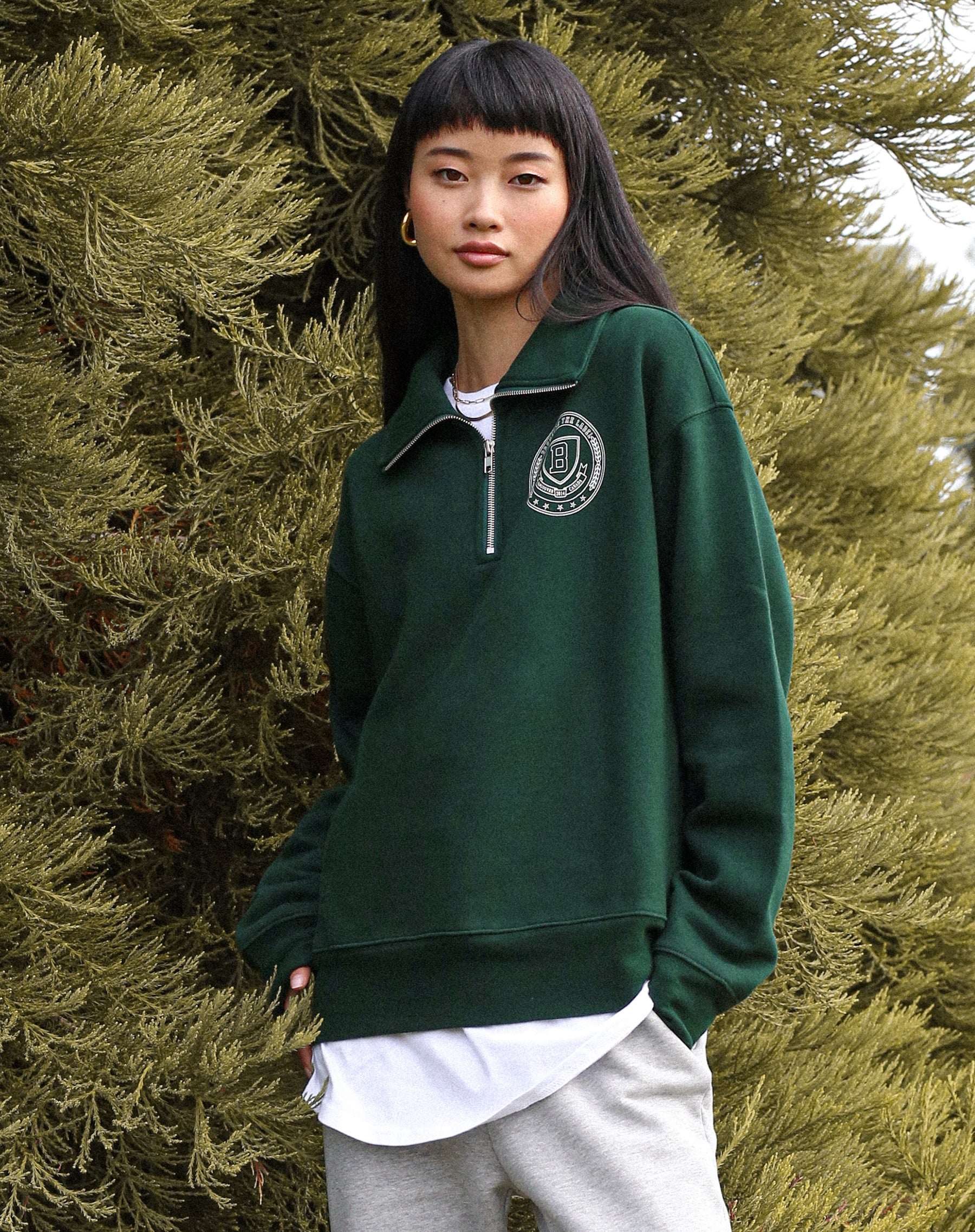 "The ""VARSITY CREST"" Half-Zip Step Sister 