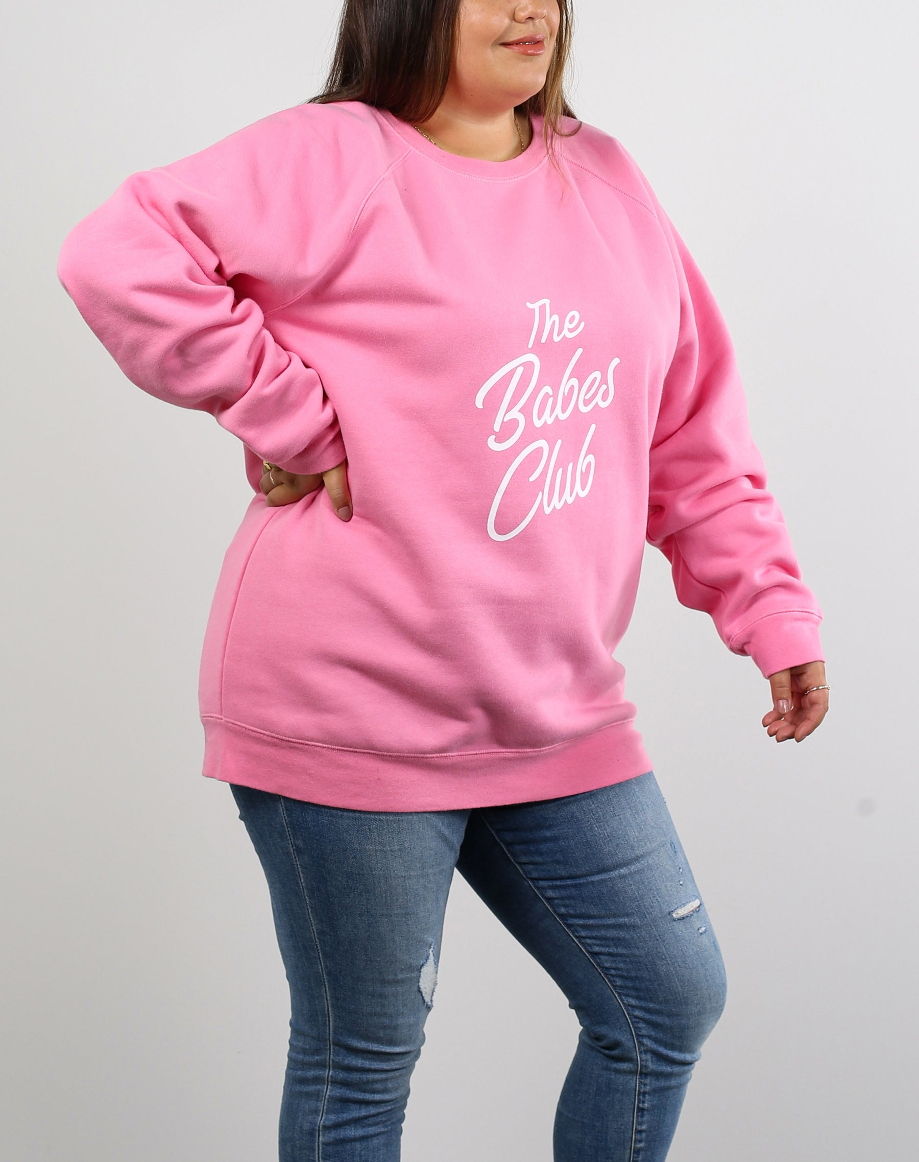 "The ""BABES CLUB"" Big Sister Crew Neck Sweatshirt 